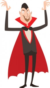 Vampire Dracula Halloween vector illustration. Funny character