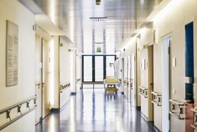 hospital bed corridor nobody landscape format